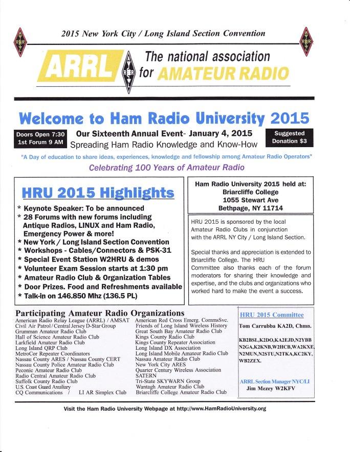 Ham Radio University 2015