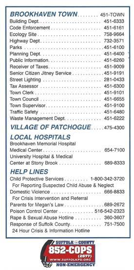 Town of Brookhaven Phone Numbers